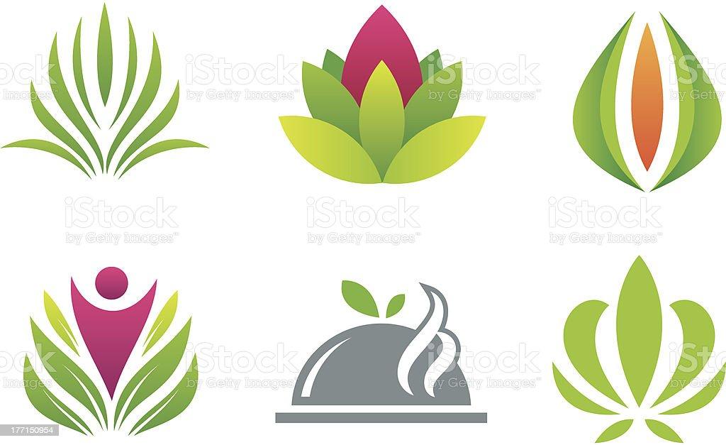 Green nature gift logo creative symbol royalty-free stock vector art