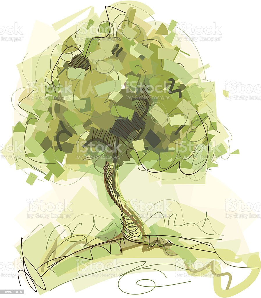 green nature tree royalty-free stock vector art