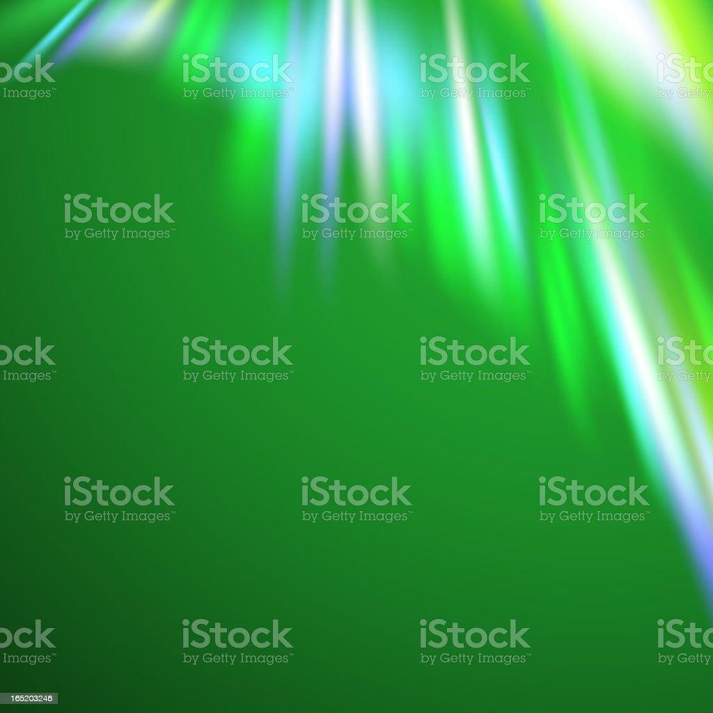 Green northern lights royalty-free stock vector art