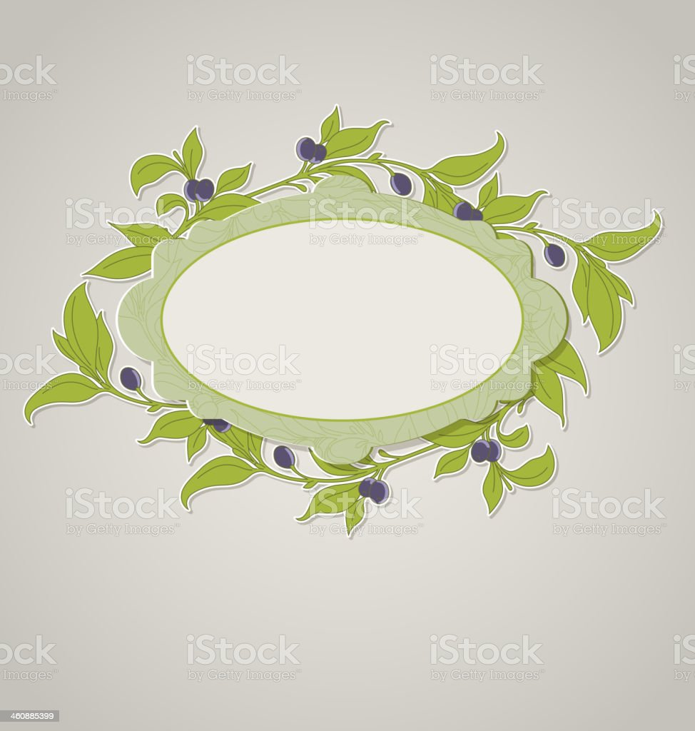 Green olive banner royalty-free stock vector art