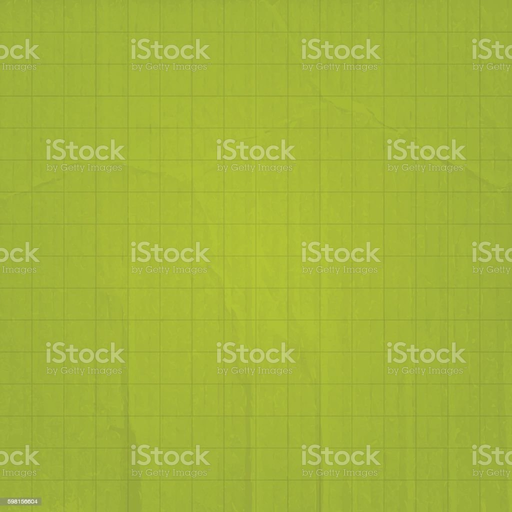 Green olive paper and cardboard background with grid vector art illustration