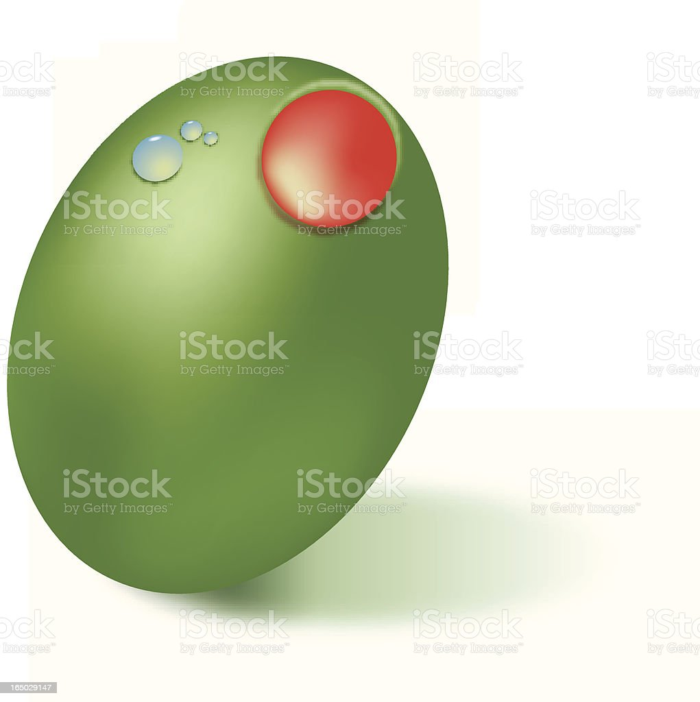 Green Olive royalty-free stock vector art
