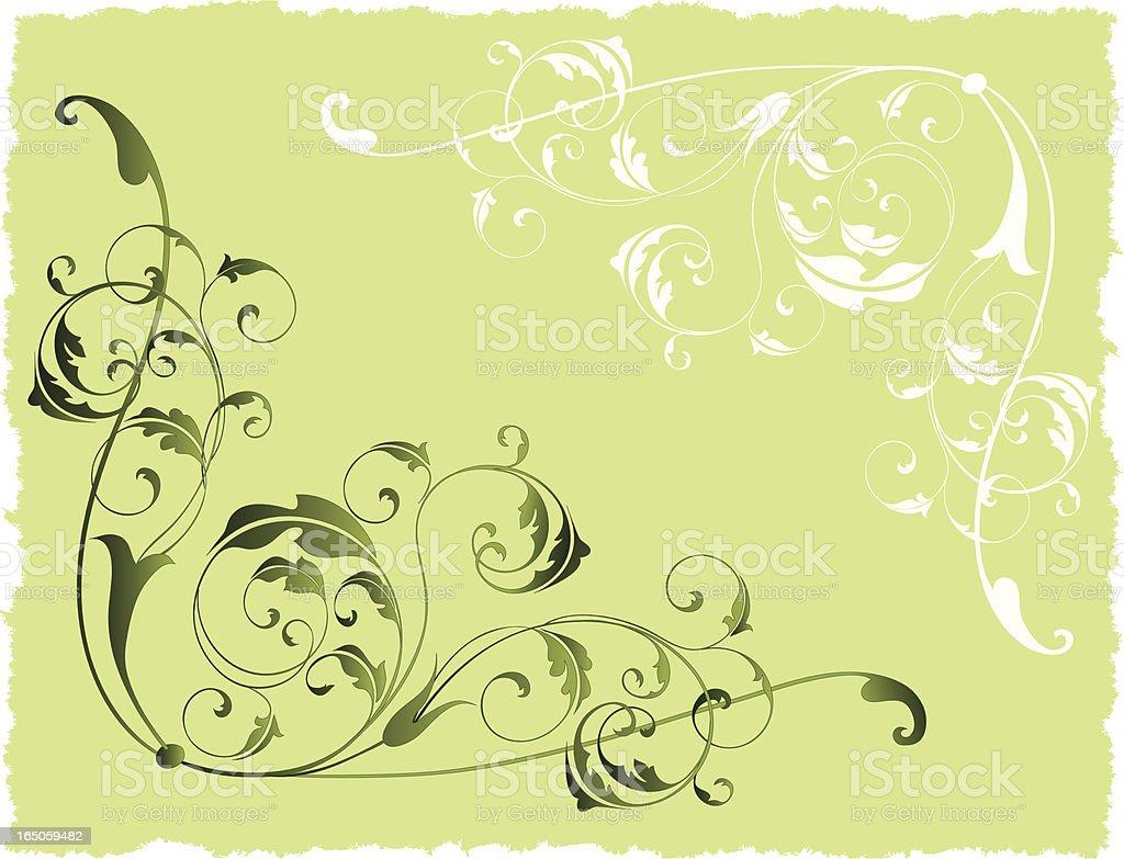 Green ornament royalty-free stock vector art