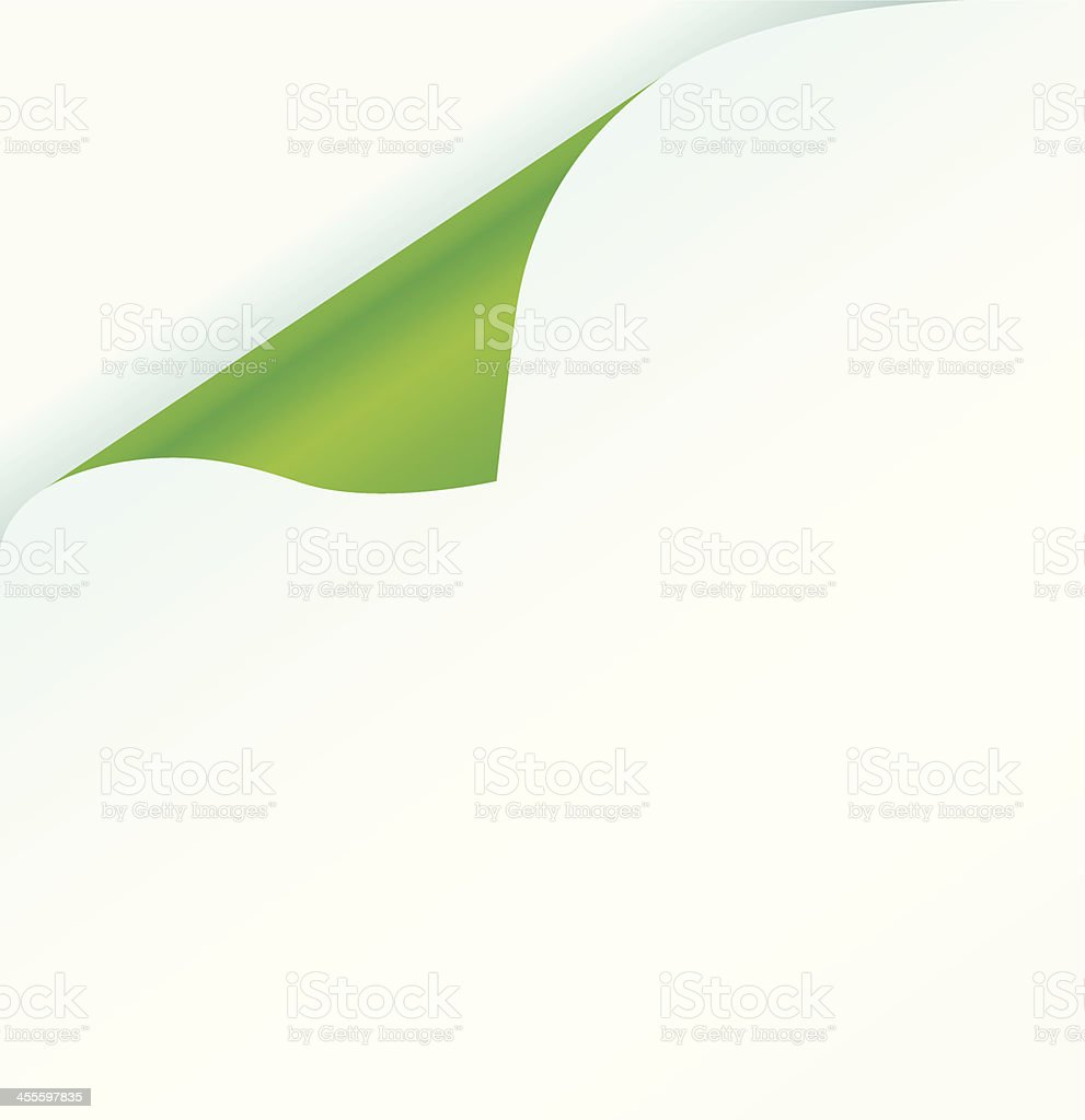 Green page curl royalty-free stock vector art