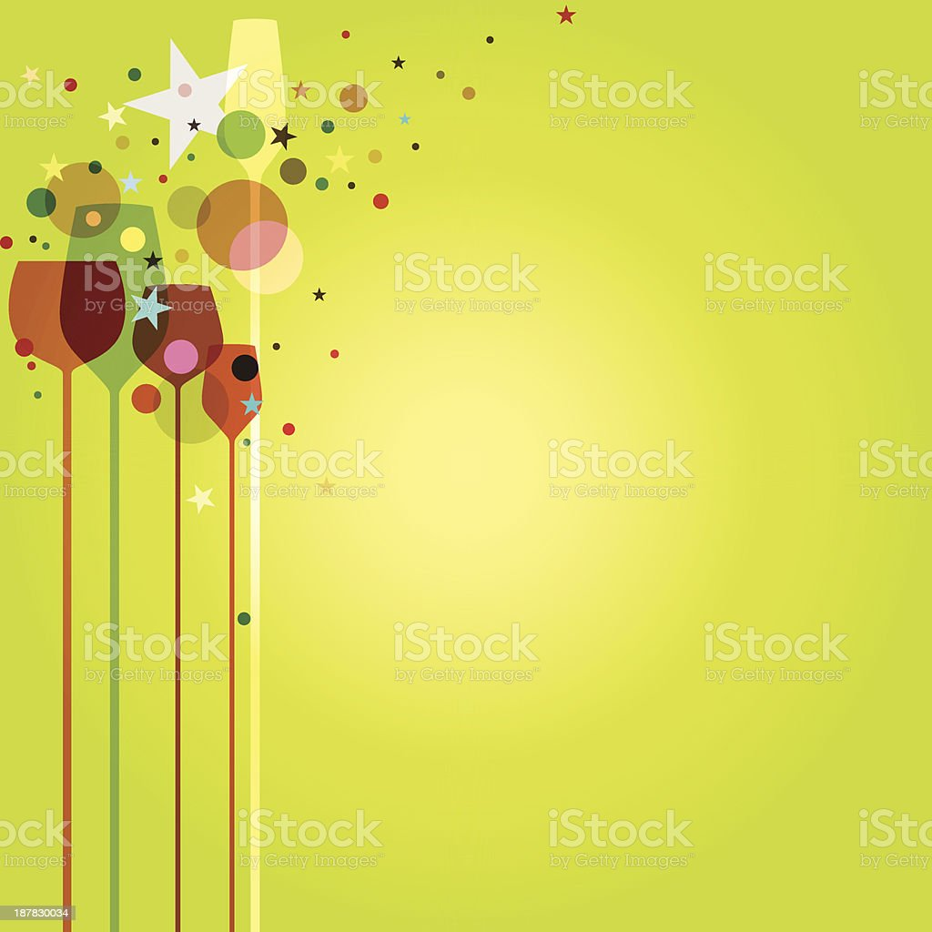 Green Party Background vector art illustration