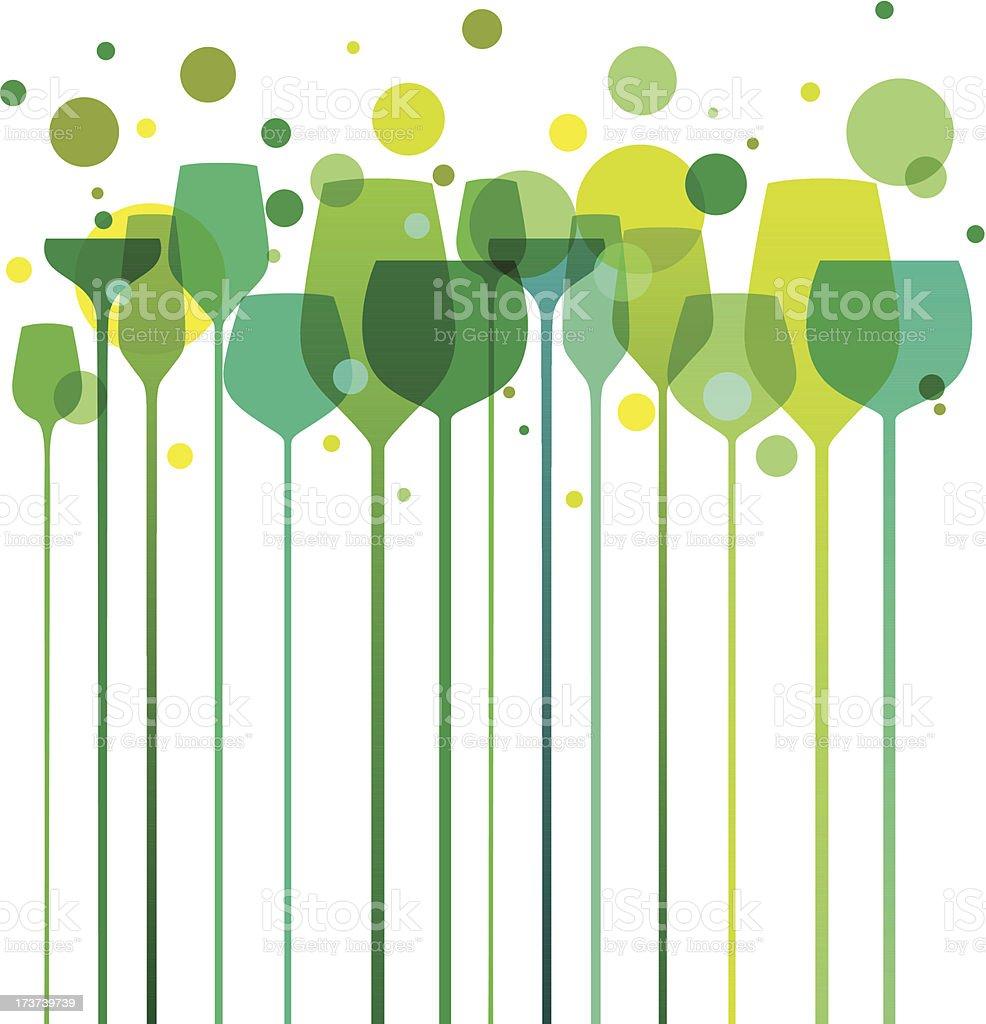 Green Party Glasses vector art illustration