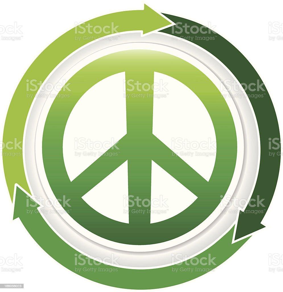 green peace symbol royalty-free stock vector art
