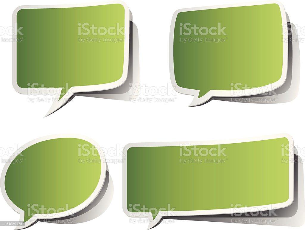 Green Peeling Speech Bubbles royalty-free stock vector art