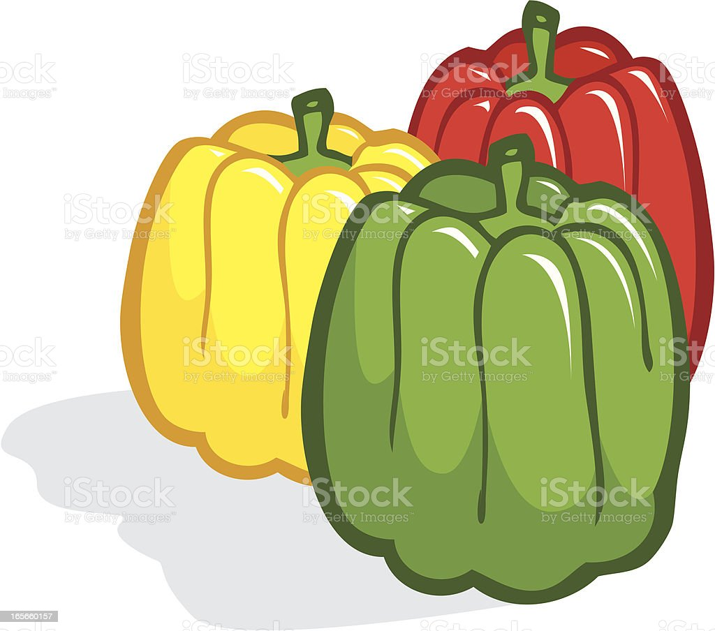 Green Peppers royalty-free stock vector art