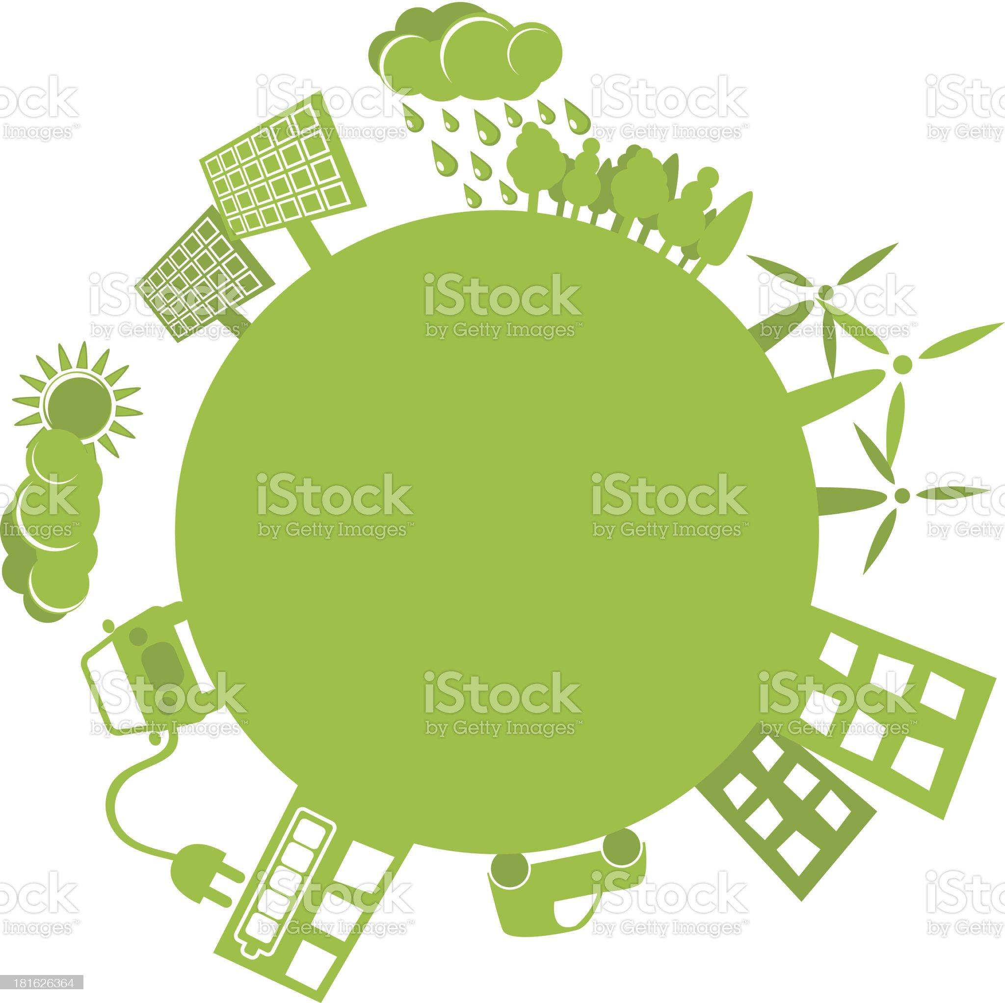 Green planet simple logo royalty-free stock vector art