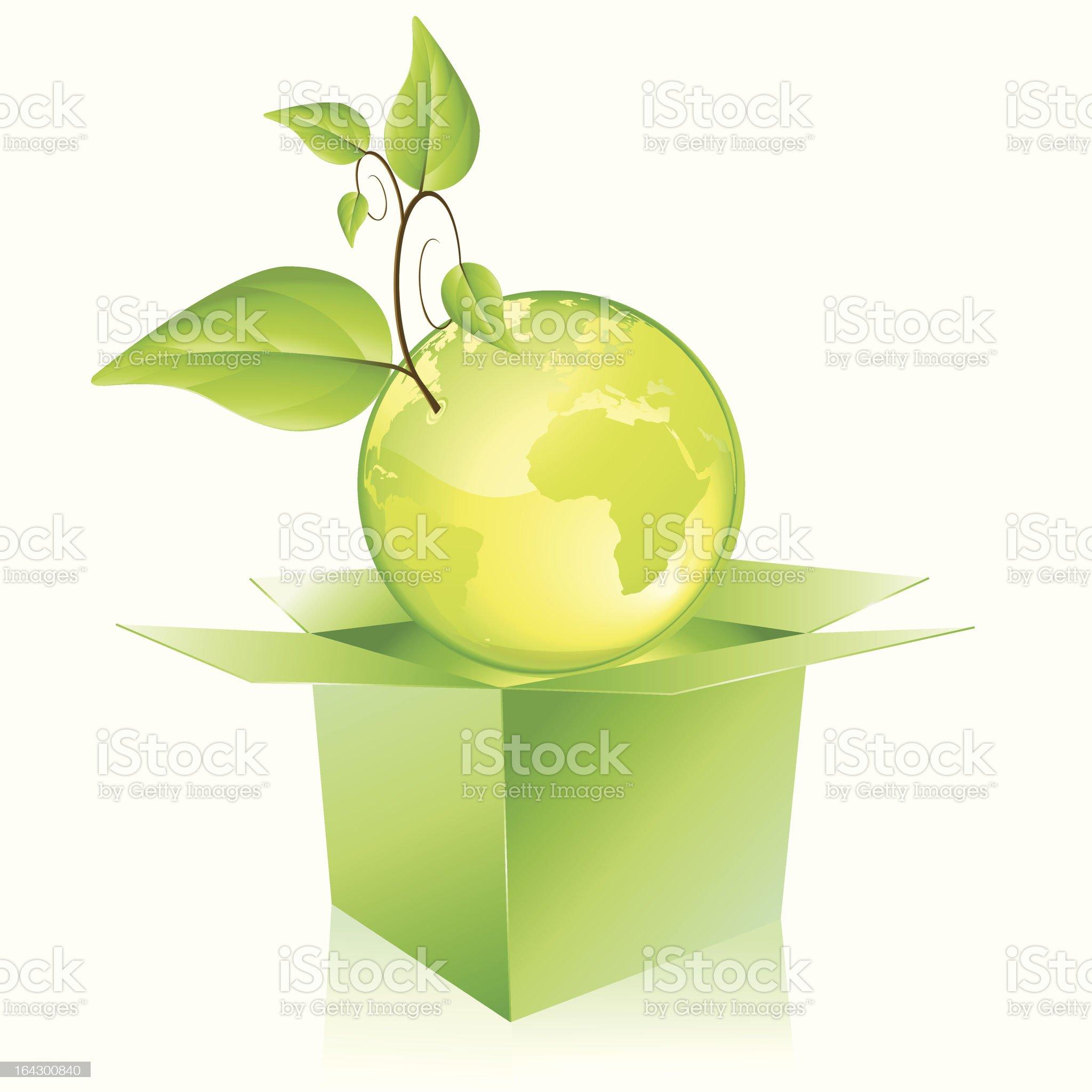 Green planet royalty-free stock vector art