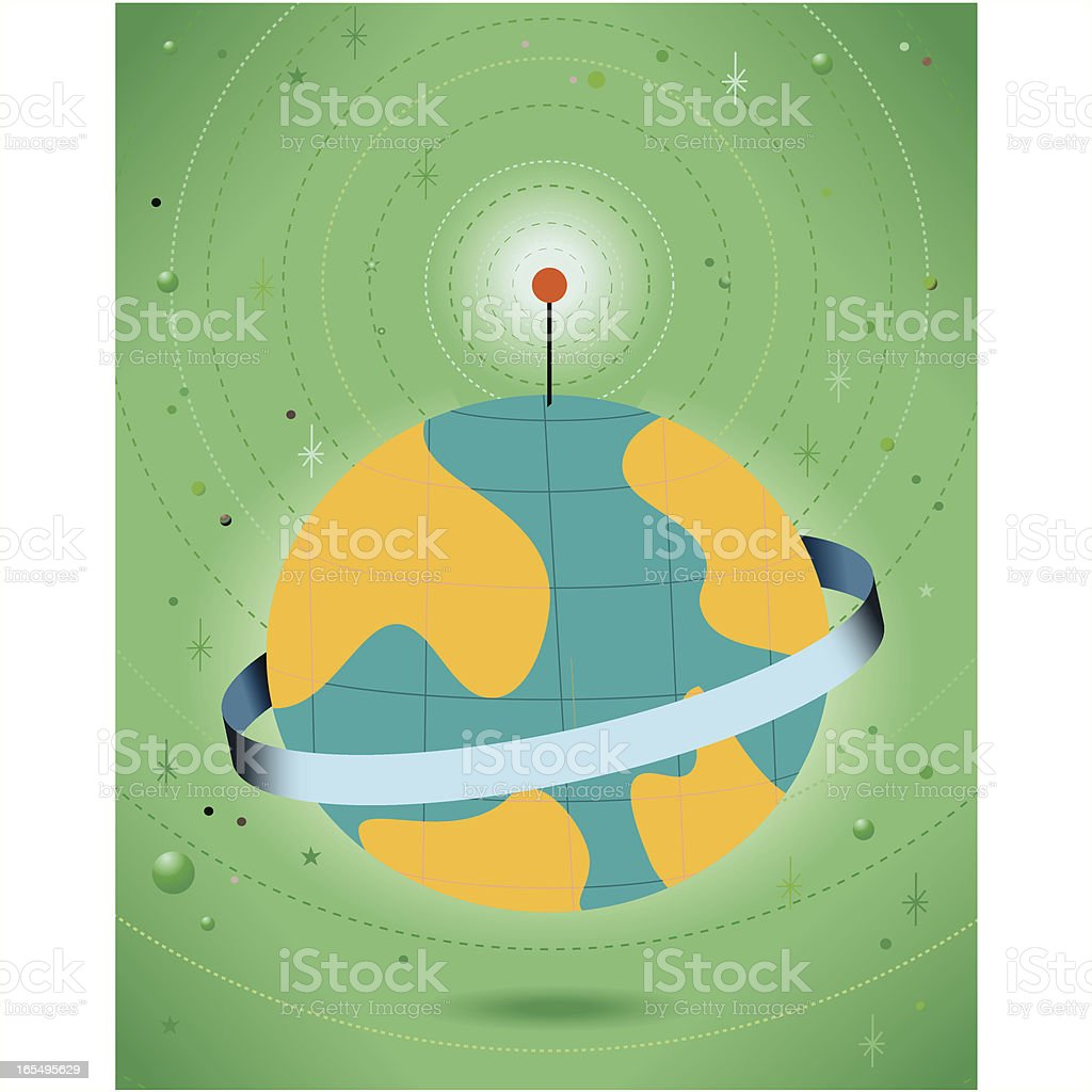 Green Planet royalty-free stock vector art