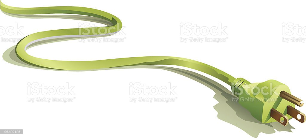 Green Plug Representing Concept for Eco Energy vector art illustration