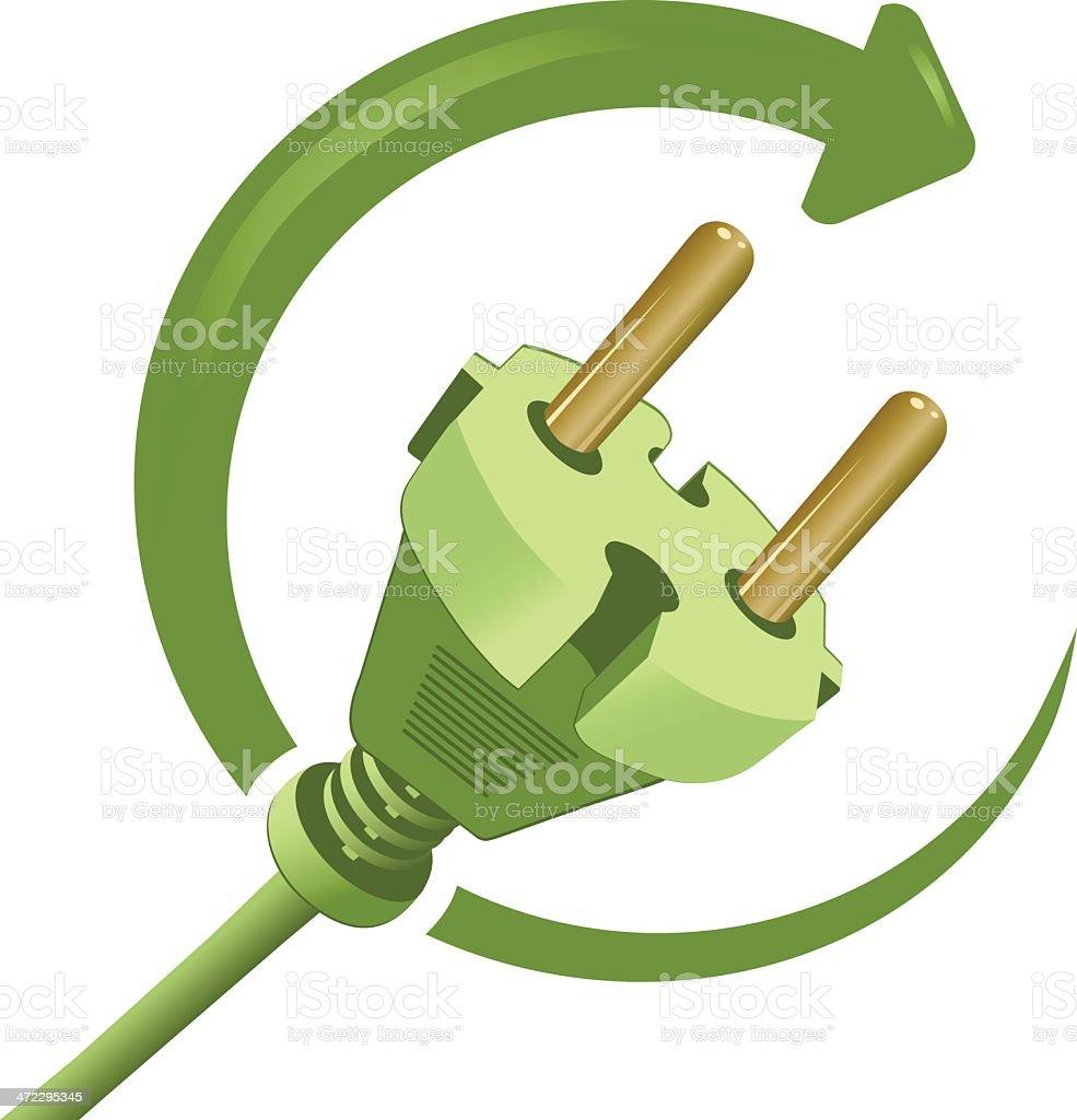 Green Plug royalty-free stock vector art