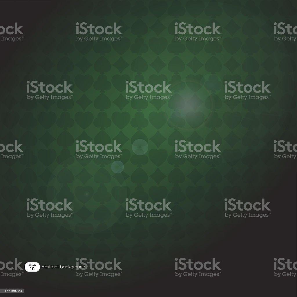 Green poker cards symbols background royalty-free stock vector art