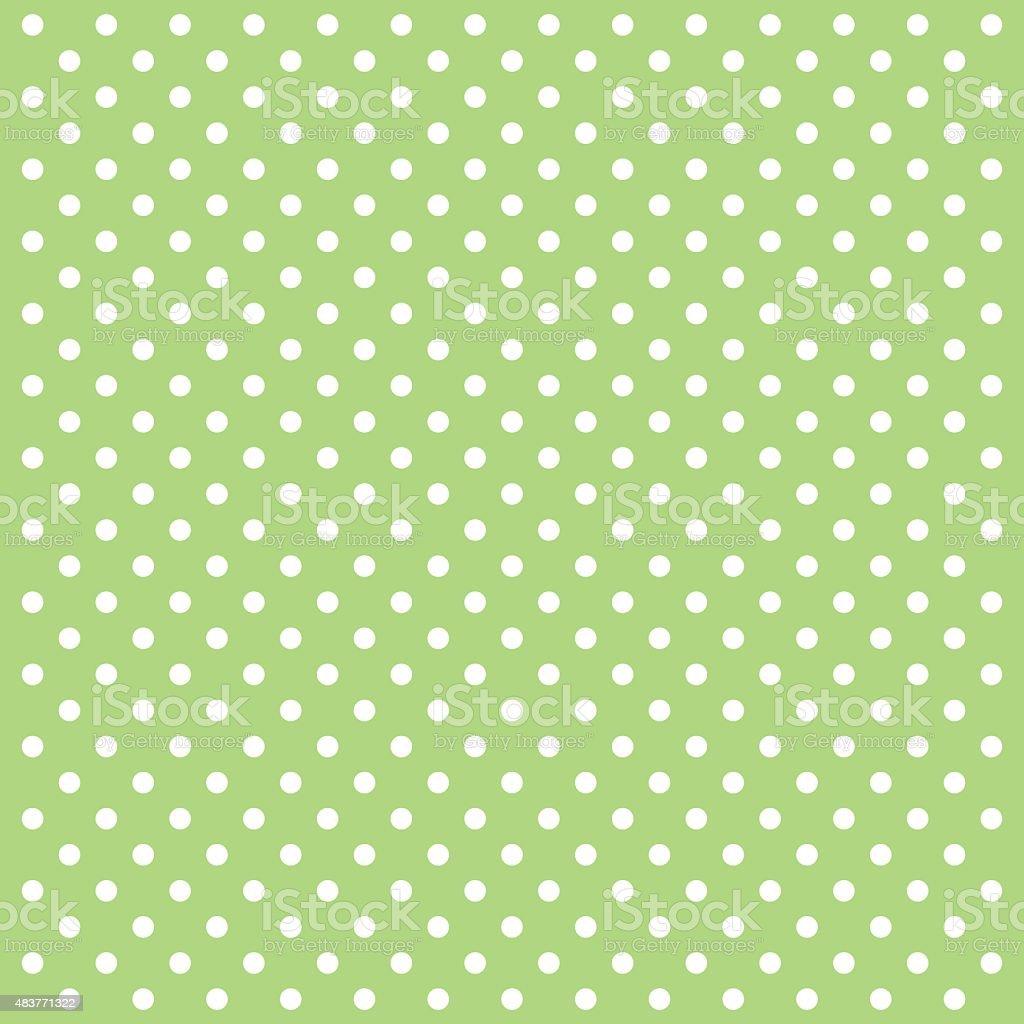 Green Polka Dots Vector Background - VECTOR vector art illustration