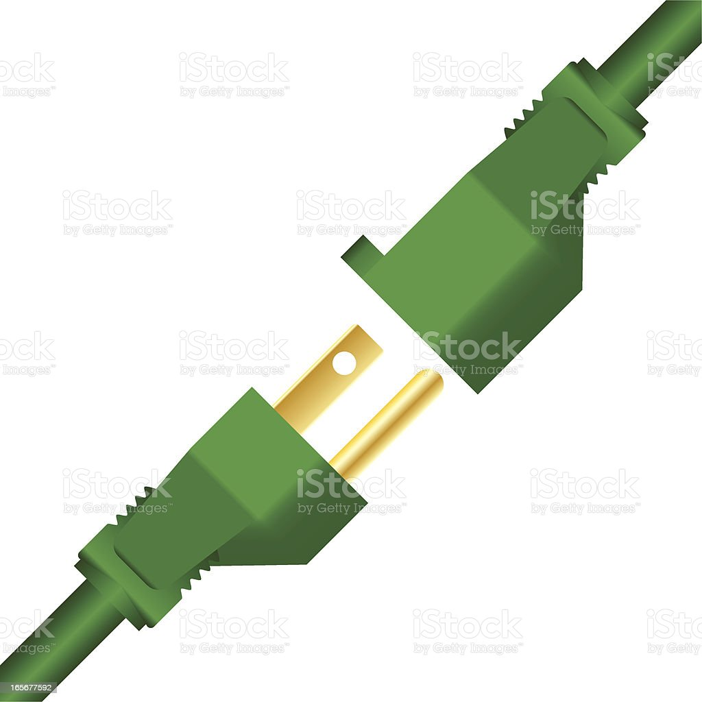 Green Power Plugs royalty-free stock vector art
