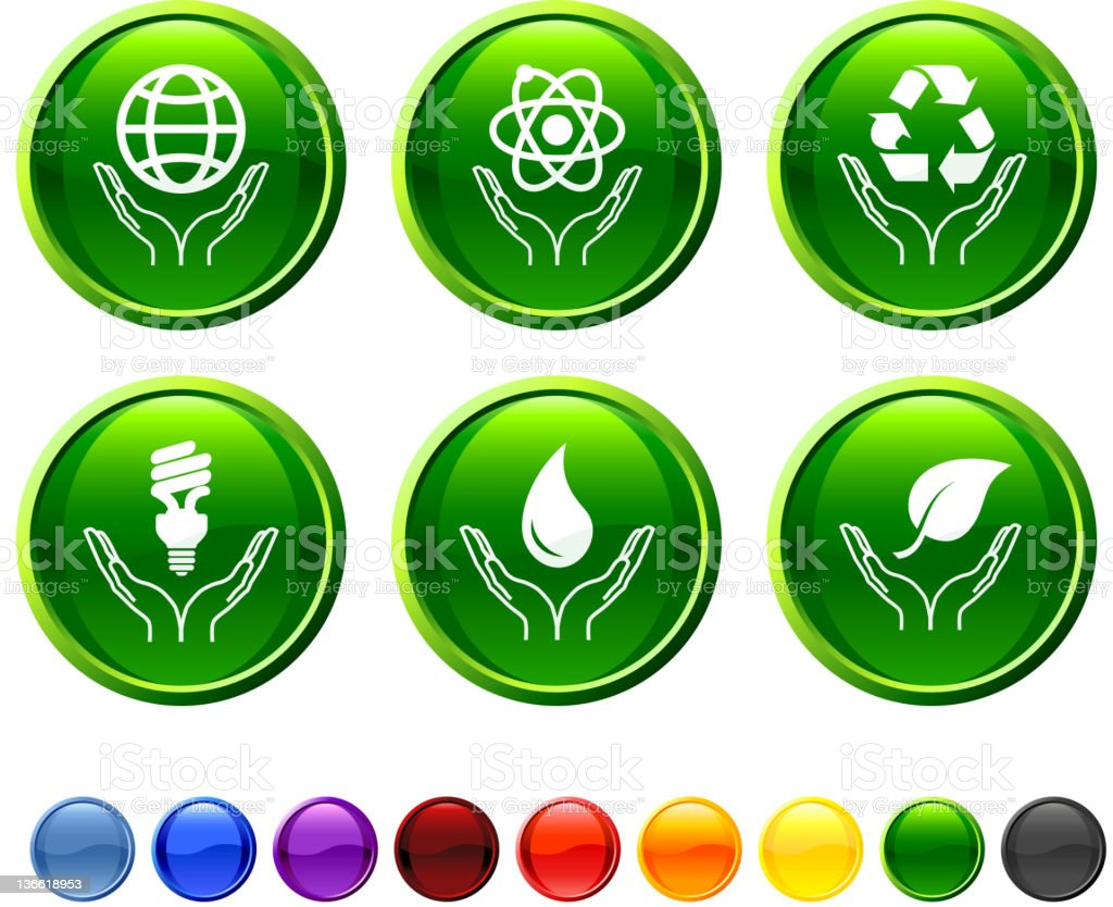 green power royalty free vector icon set royalty-free stock vector art