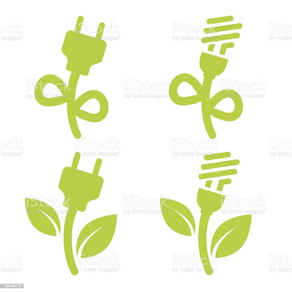 Green power vector art illustration