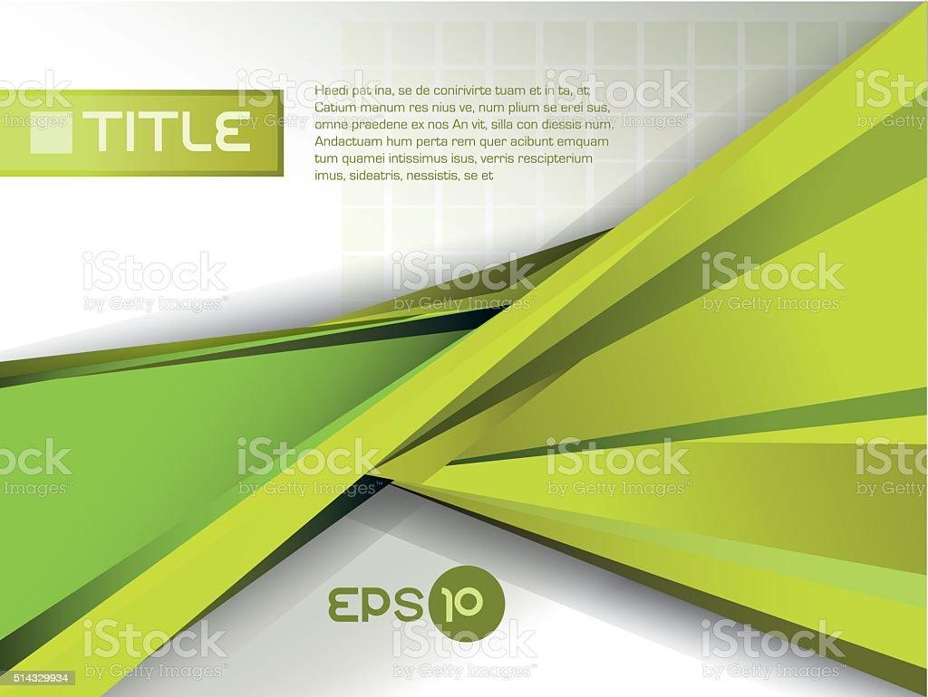 green presentation vector art illustration
