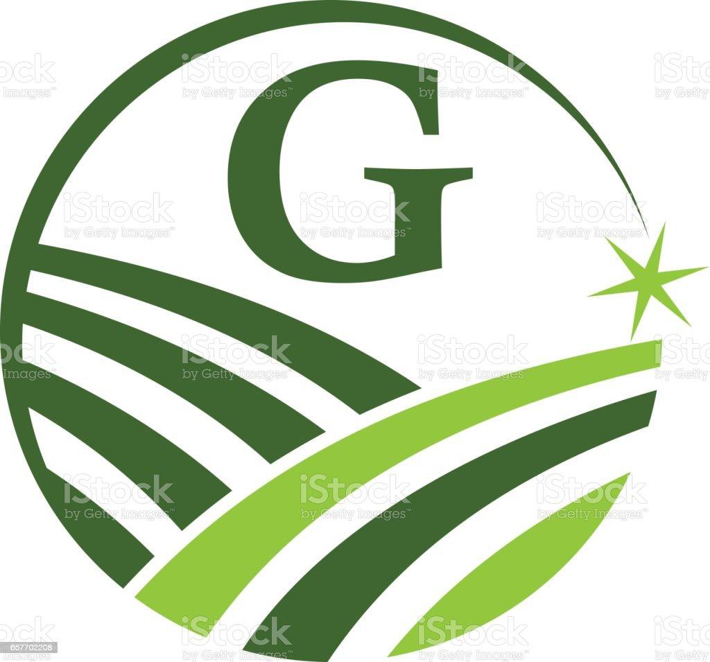 Green Project Solution Center Initial G vector art illustration