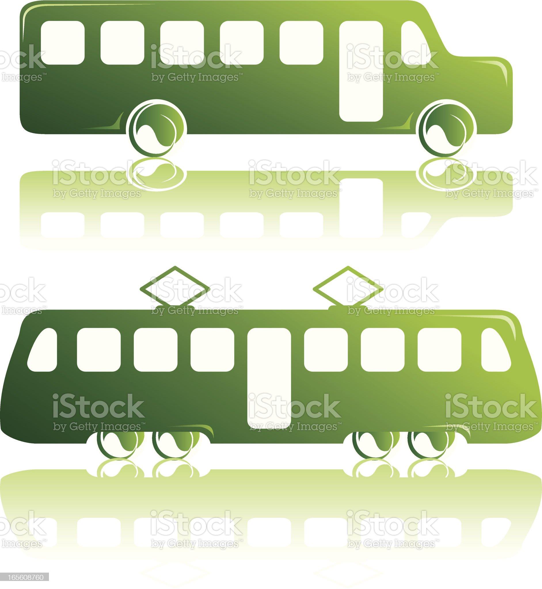 Green Public Transportation royalty-free stock vector art