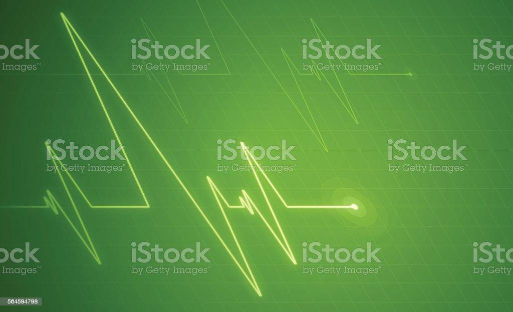 Green Pulse Trace Background vector art illustration