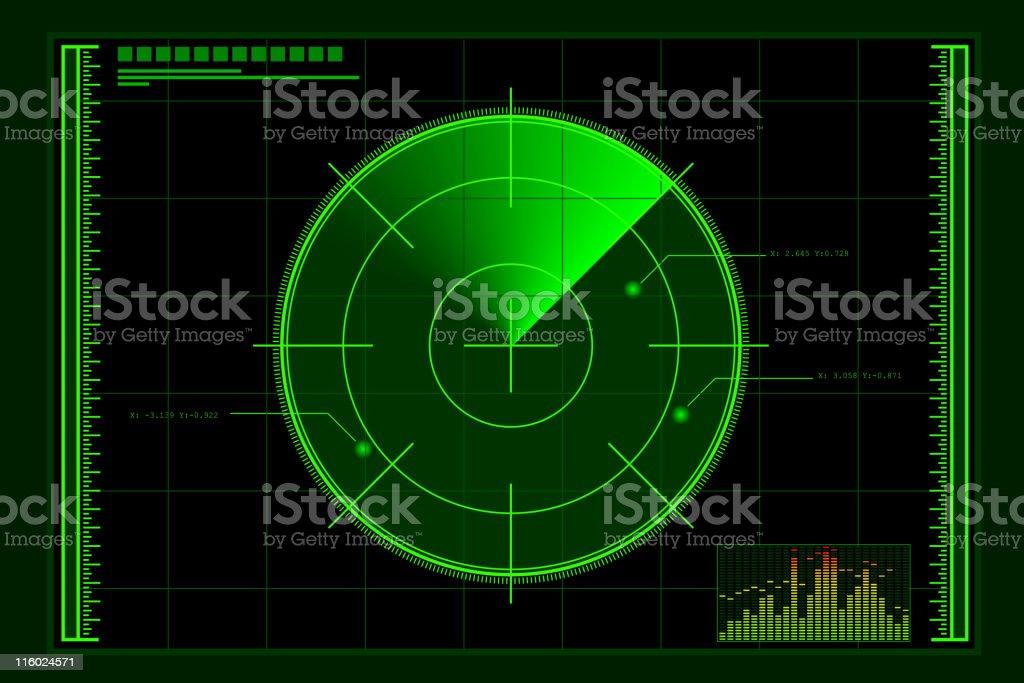 Green Radar Screen royalty-free stock vector art