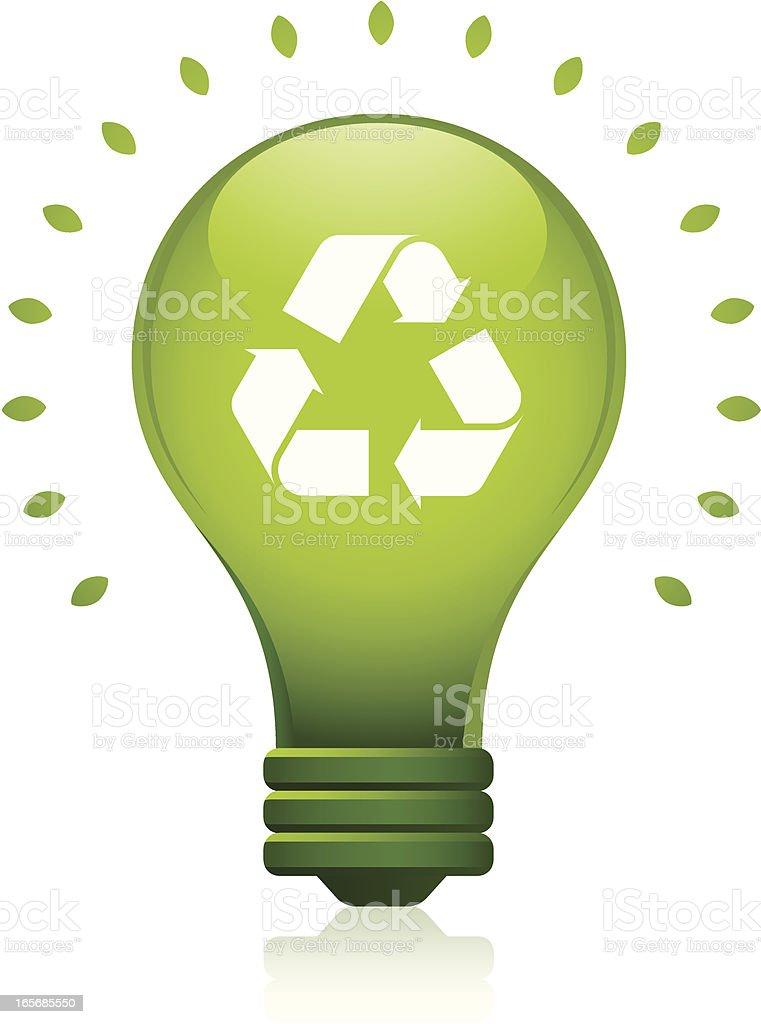 Green Recycle Lightbulb royalty-free stock vector art