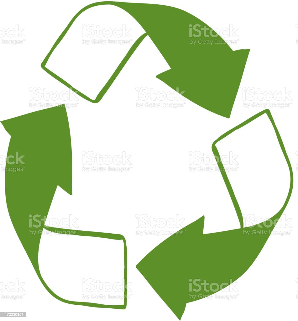 Green recycle sign royalty-free stock vector art