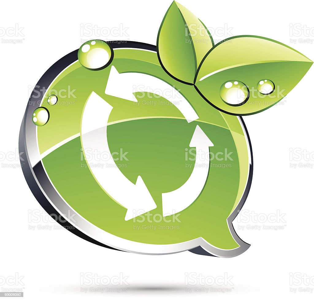 Green Recycle royalty-free stock vector art