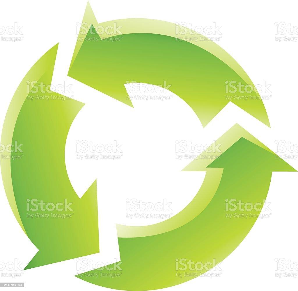 Vert icône de recyclage stock vecteur libres de droits libre de droits