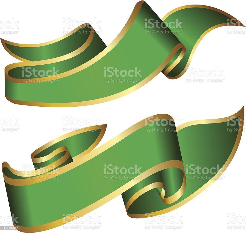 Green ribbons royalty-free stock vector art
