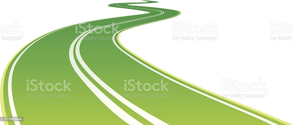 green road royalty-free stock vector art