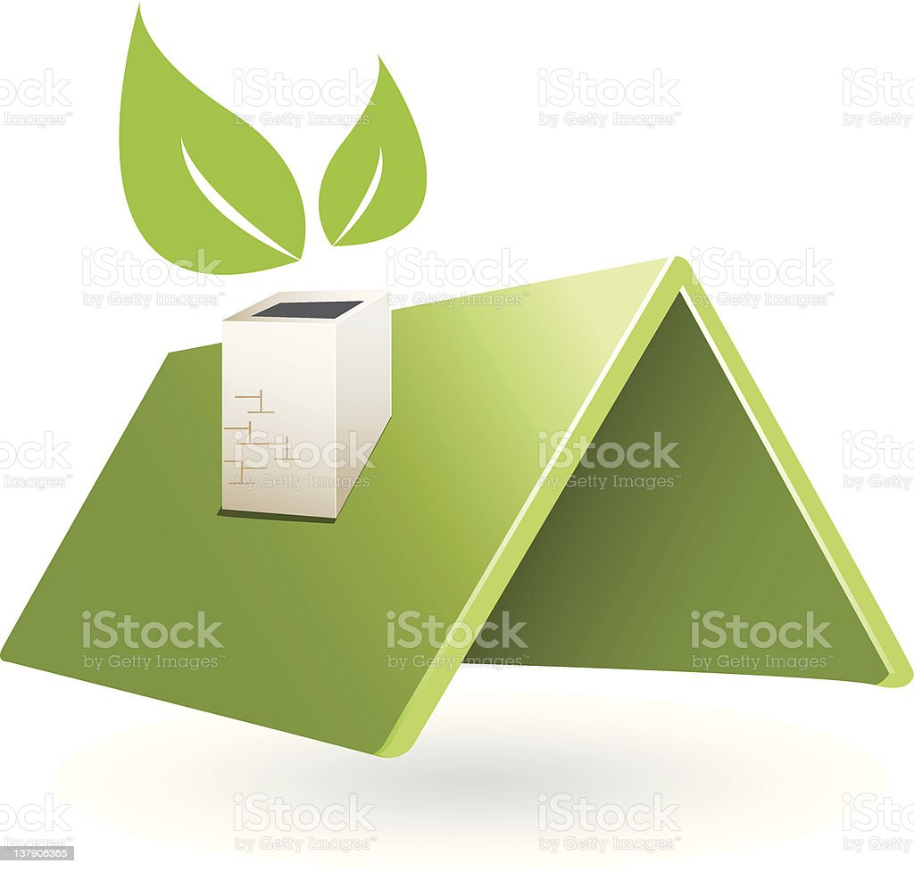 green roof royalty-free stock vector art