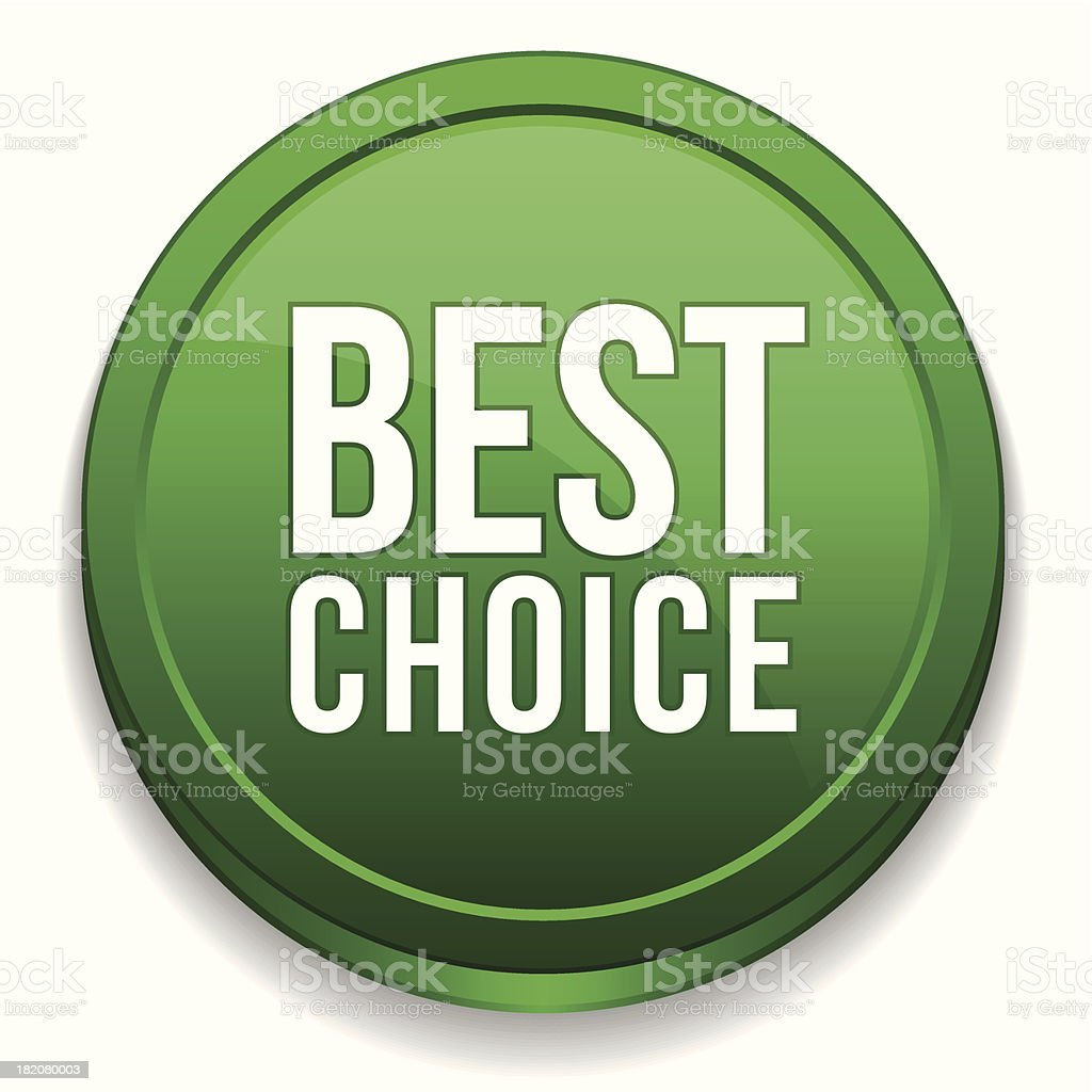 Green round best choice button royalty-free stock vector art