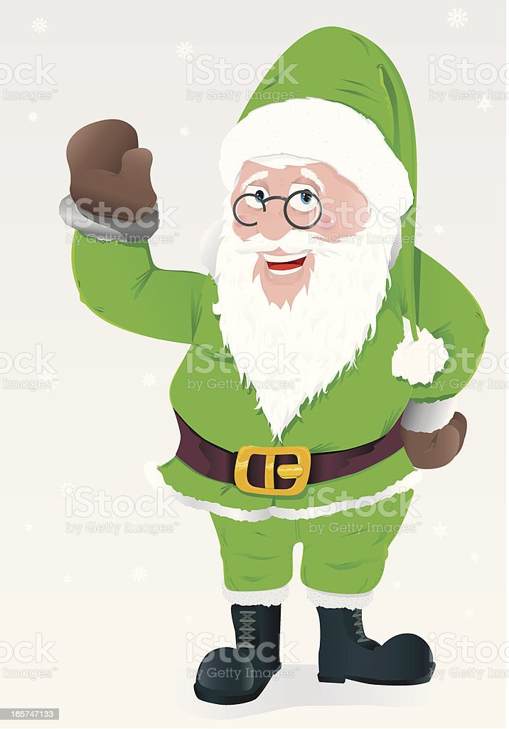 Green Santa Claus royalty-free stock vector art