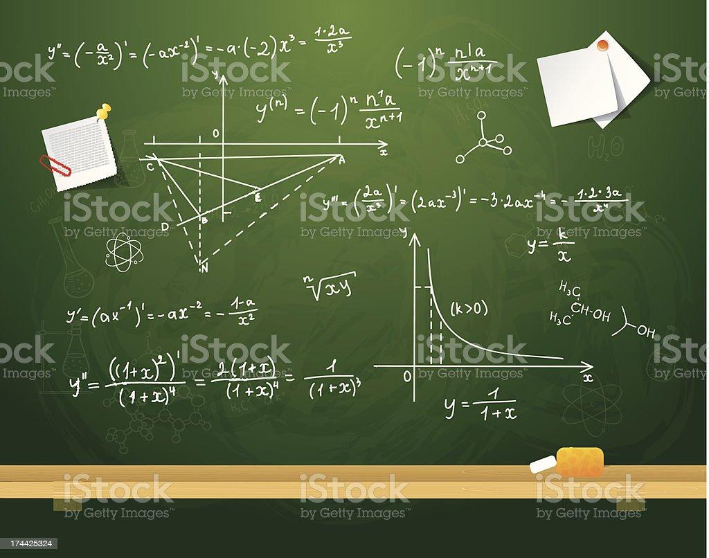 Green school board royalty-free stock vector art