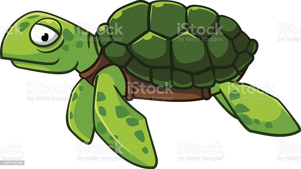 Green sea turtle royalty-free stock vector art