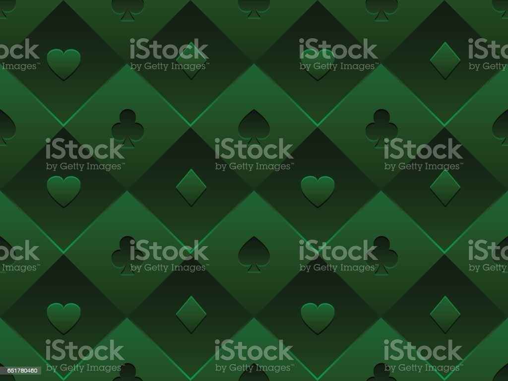 Poker table background - Green Seamless Pattern Fabric Poker Table Minimalistic Casino Vector 3d Background With Texture Composed From