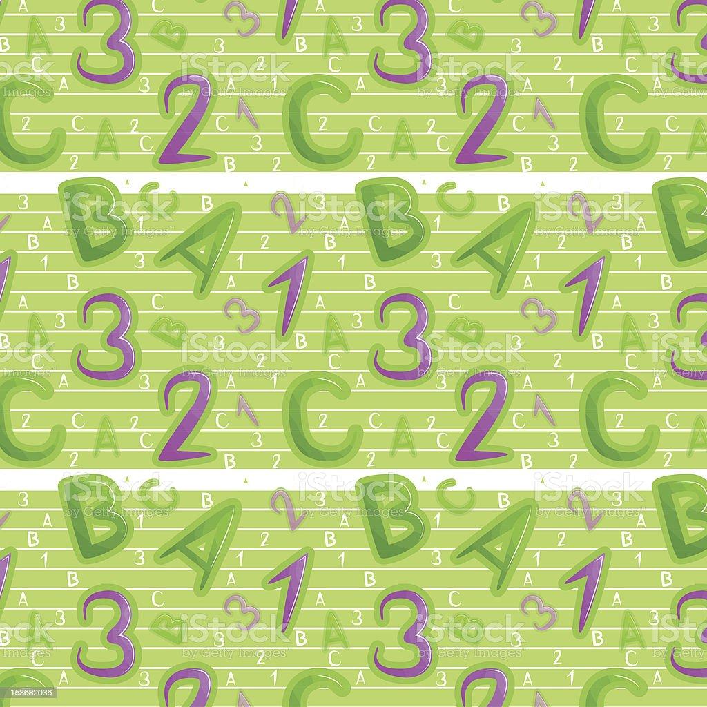 Green seamless pattern royalty-free stock vector art