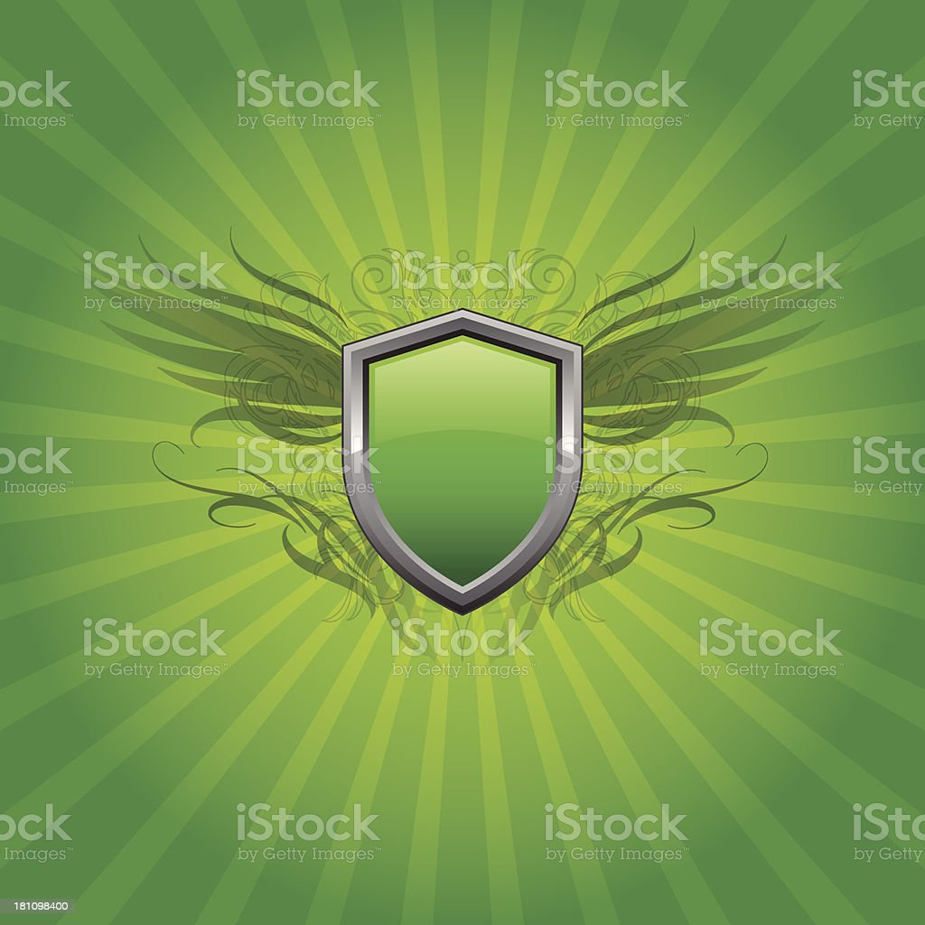 Green shield background royalty-free stock vector art