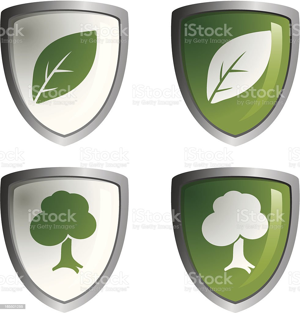 Green Shields royalty-free stock vector art