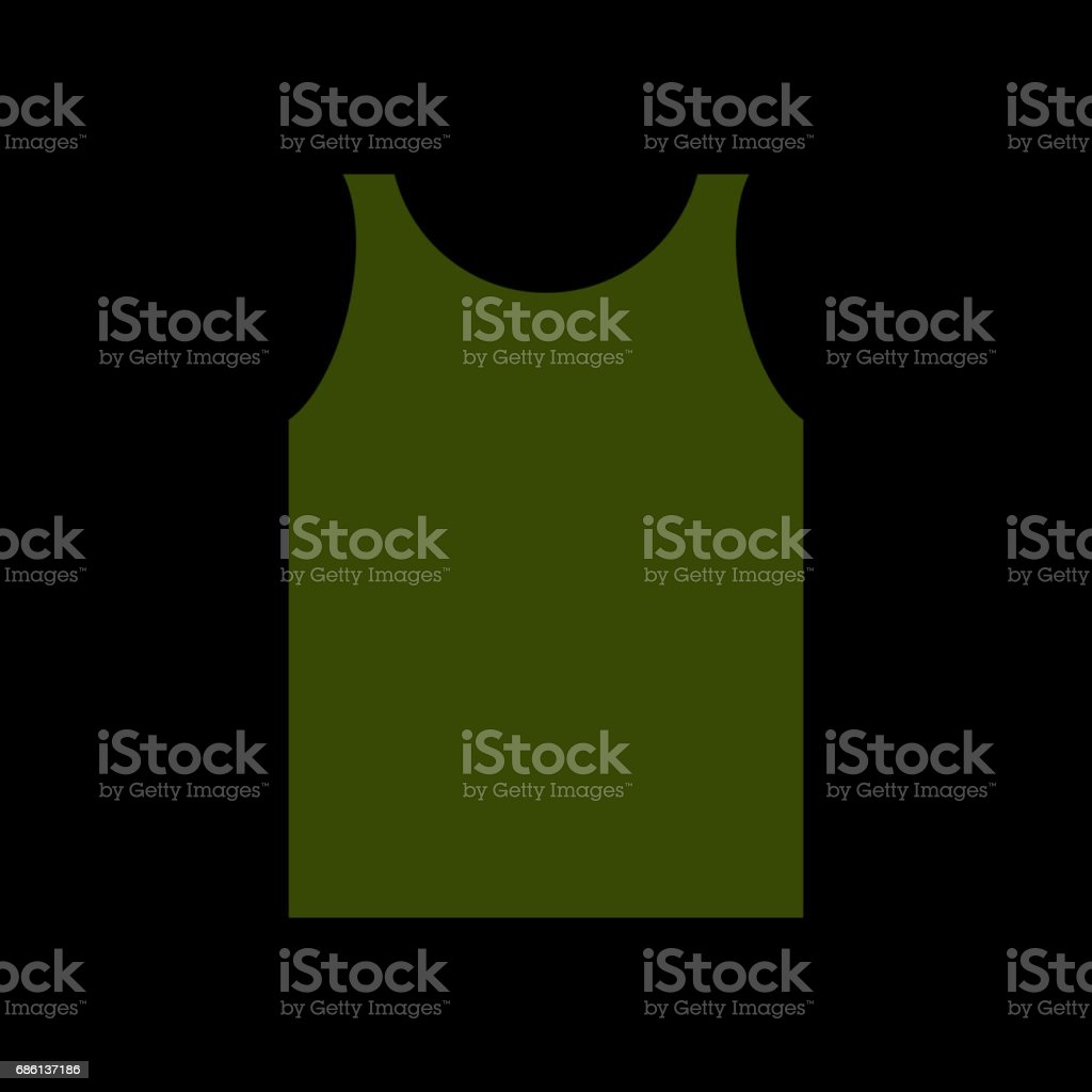 green Shirt Soldier. Army clothes isolated. Military uniforms vector art illustration