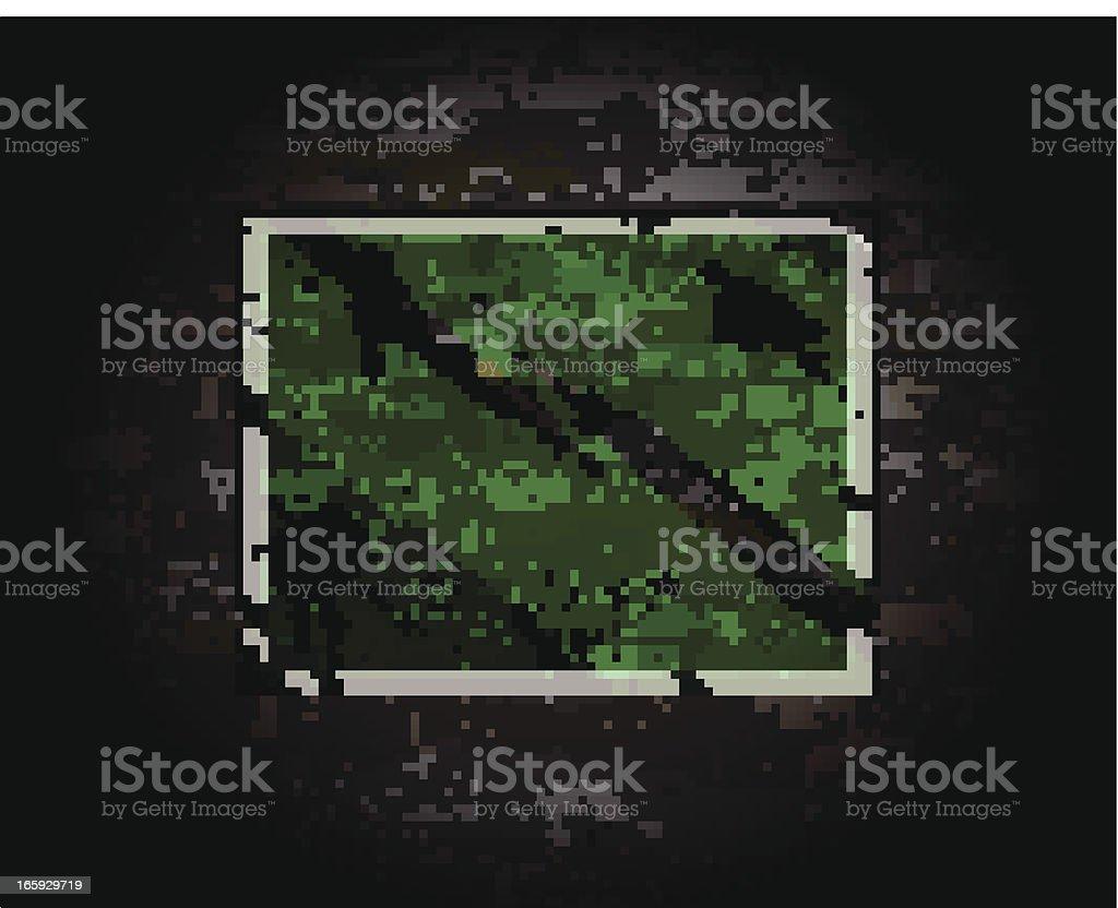 Green Sign on Brick Wall royalty-free stock vector art