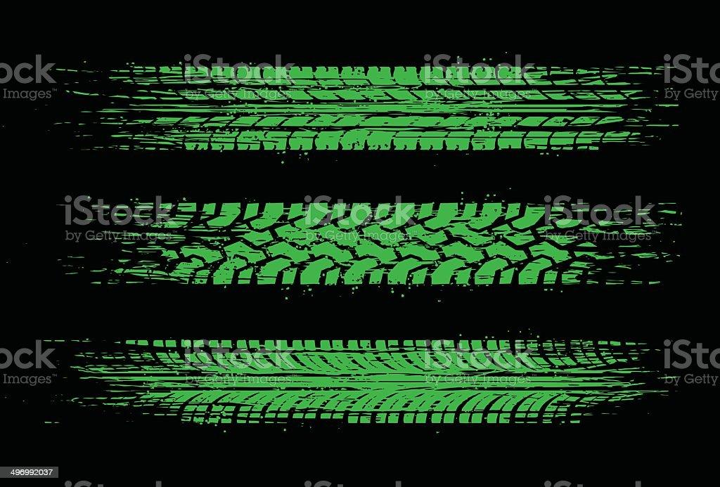 green skid marks vector art illustration