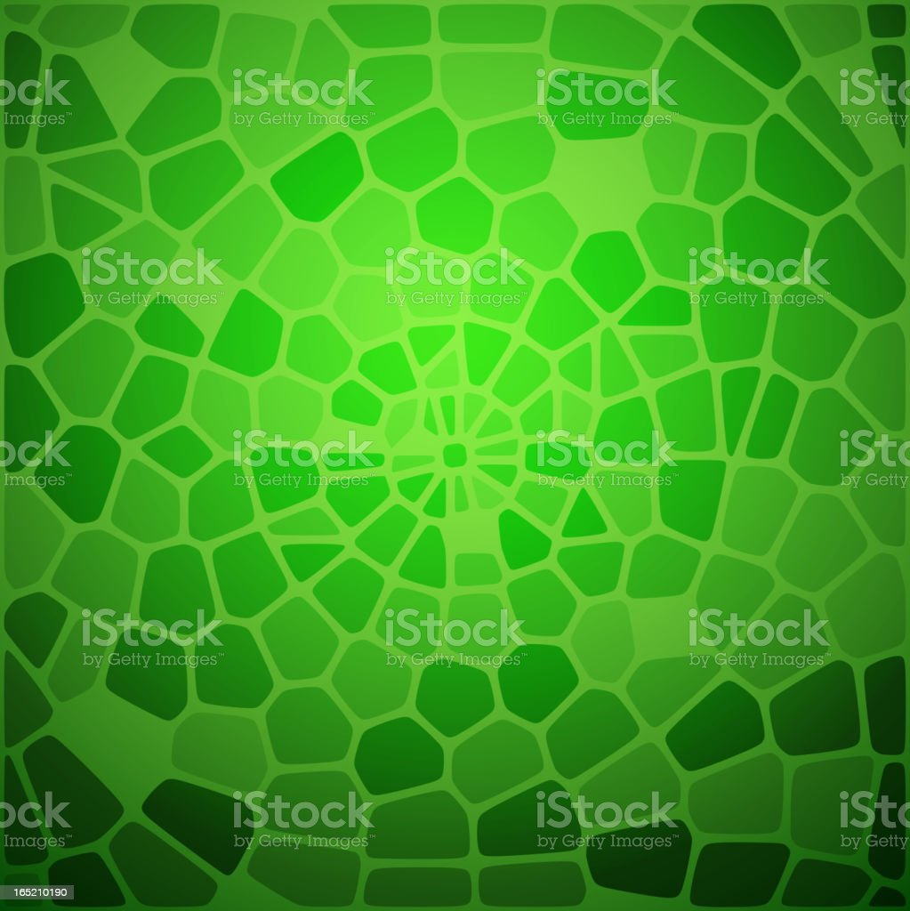 Green snake skin abstraction. royalty-free stock vector art