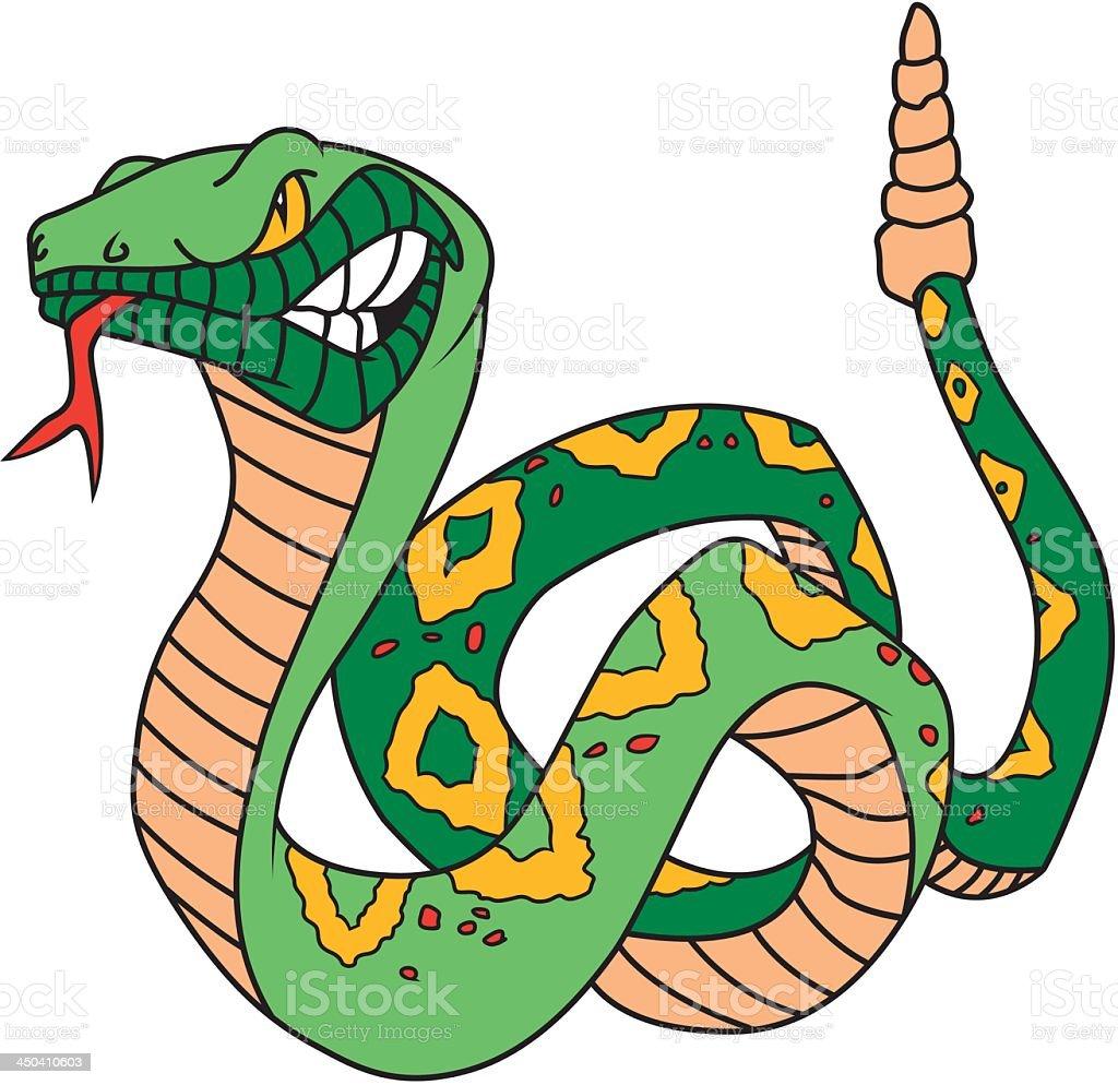 Green Snake royalty-free stock vector art
