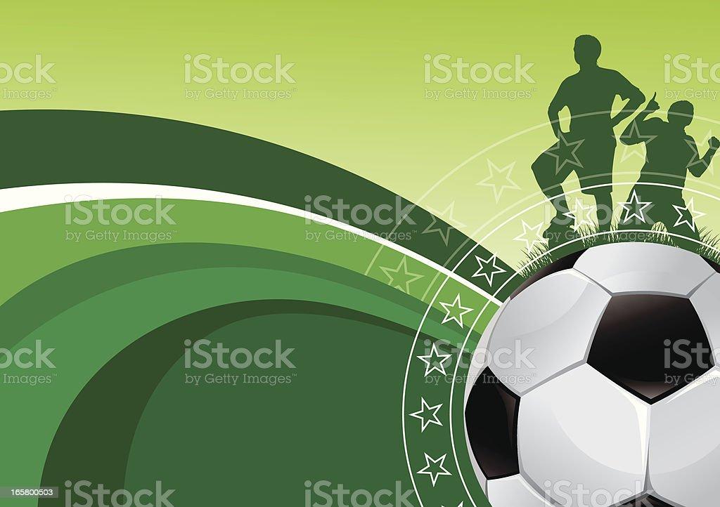 Green soccer background royalty-free stock vector art