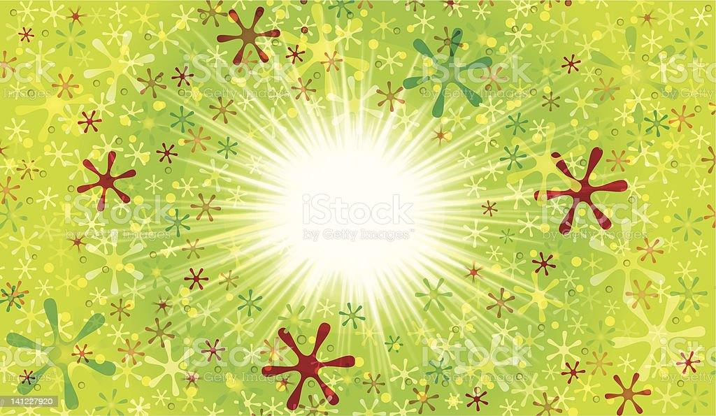 Green Spark Background royalty-free stock vector art